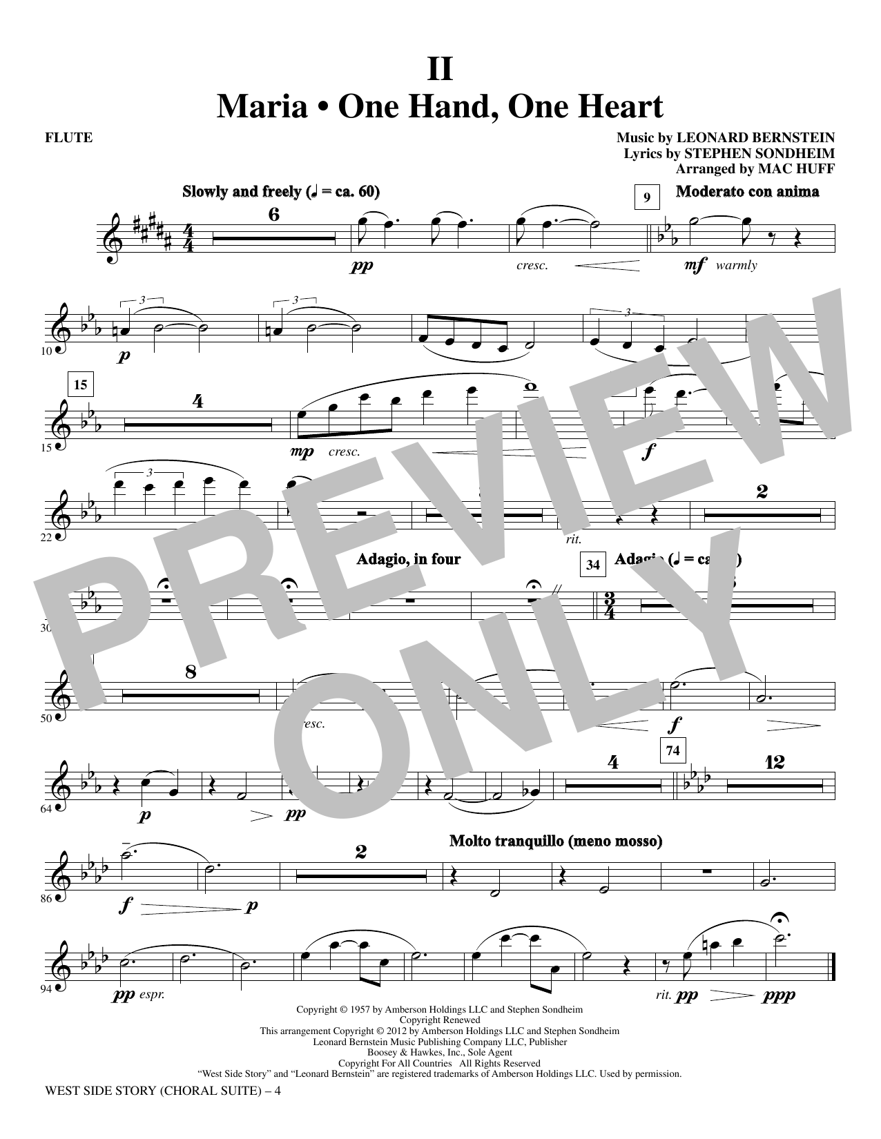 West Side Story - Flute (Choir Instrumental Pak)