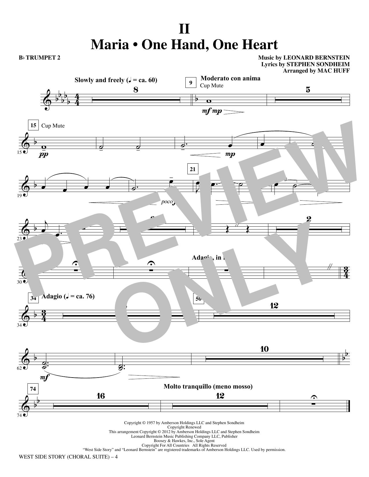 West Side Story - Bb Trumpet 2 (Choir Instrumental Pak)