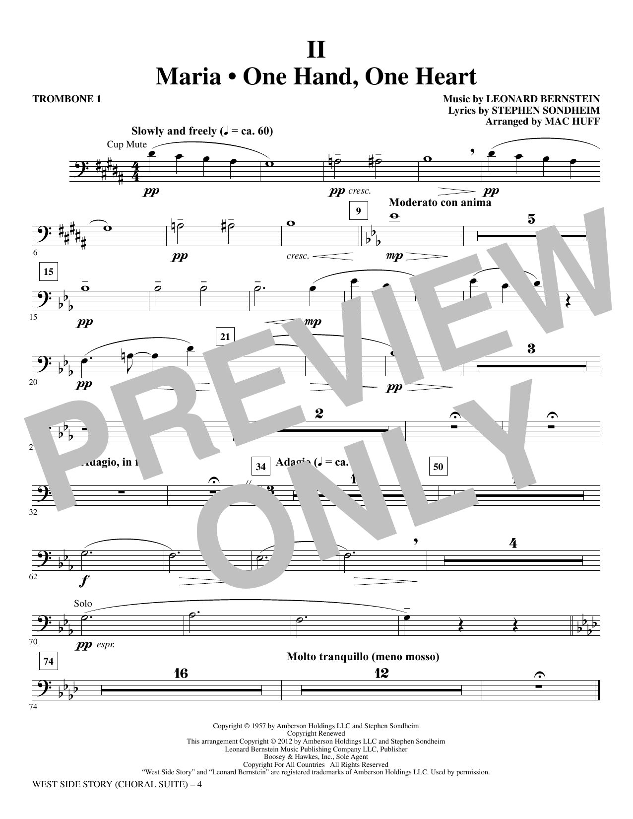 West Side Story - Trombone 1 (Choir Instrumental Pak)