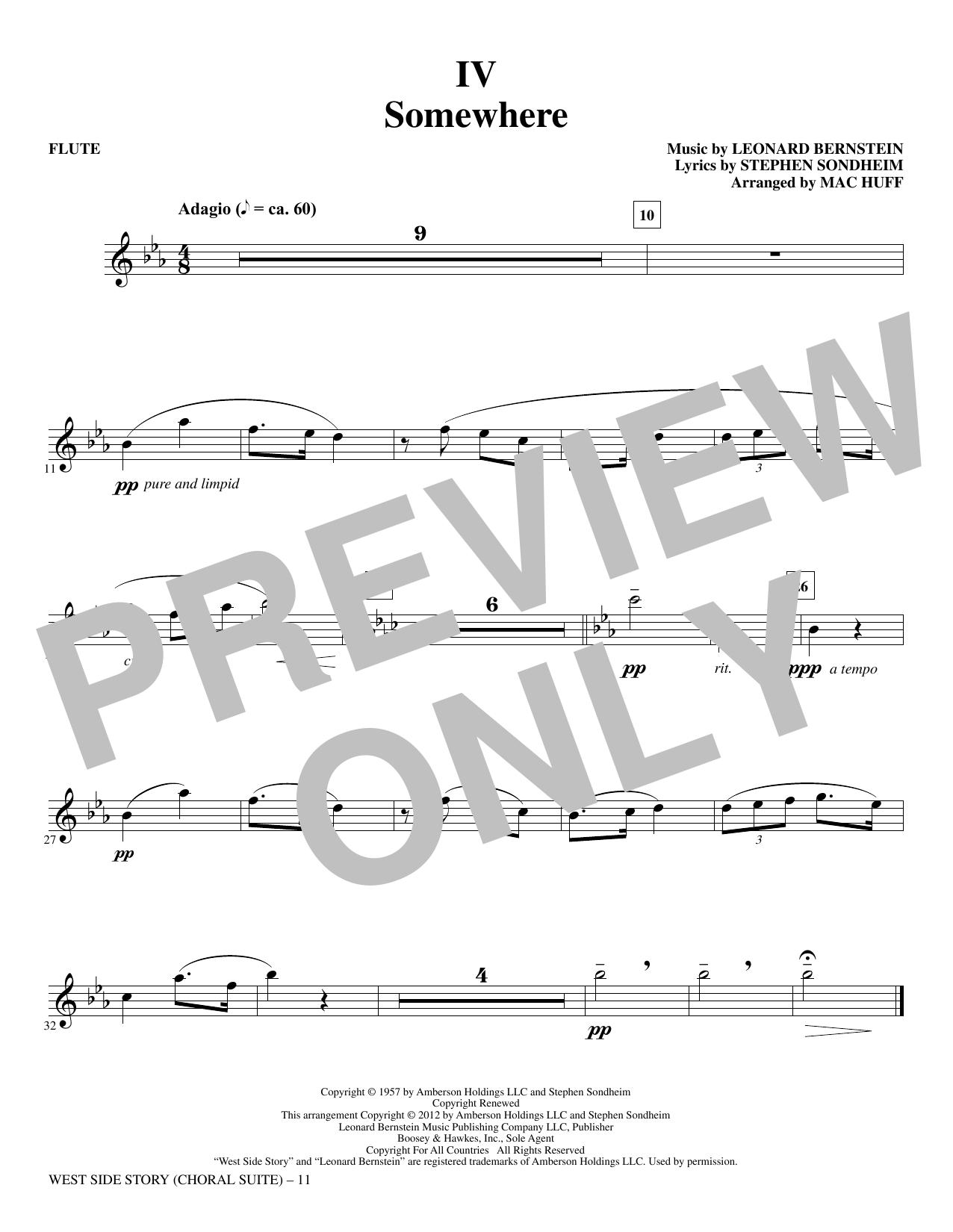 West Side Story - Flute (Choir Instrumental Pak)
