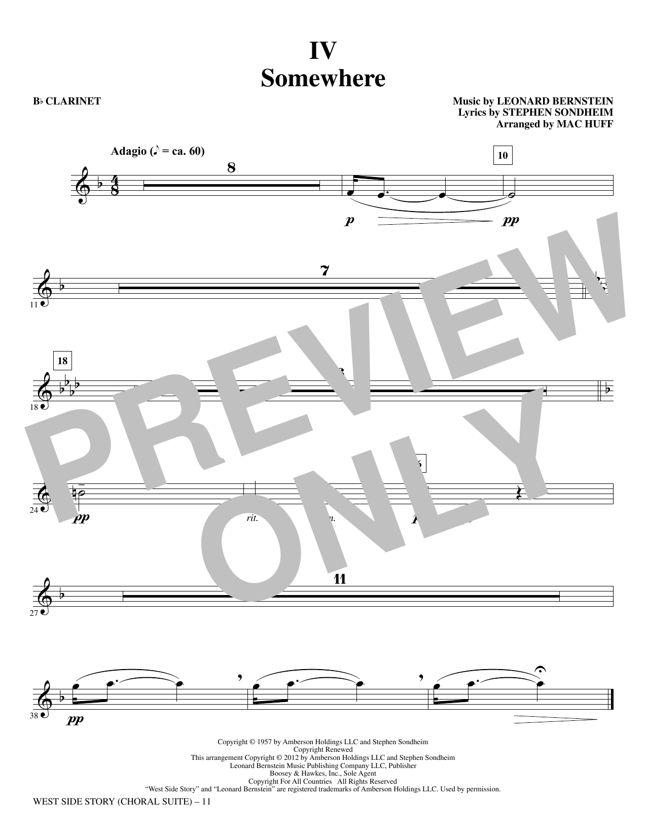 West Side Story - Clarinet (Choir Instrumental Pak)