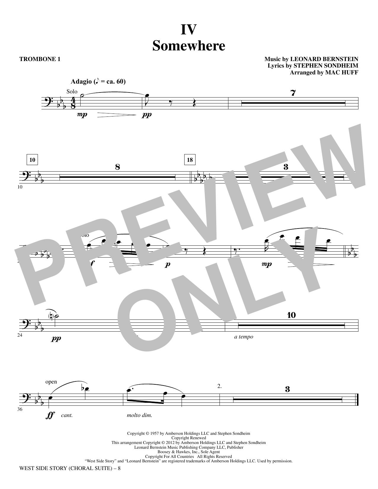 West Side Story - Trombone 1 (Choir Instrumental Pak)
