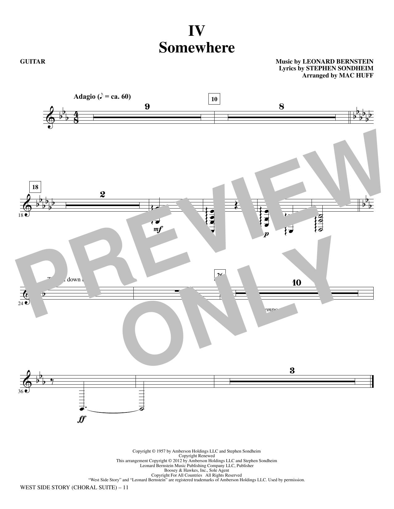 West Side Story - Guitar (Choir Instrumental Pak)
