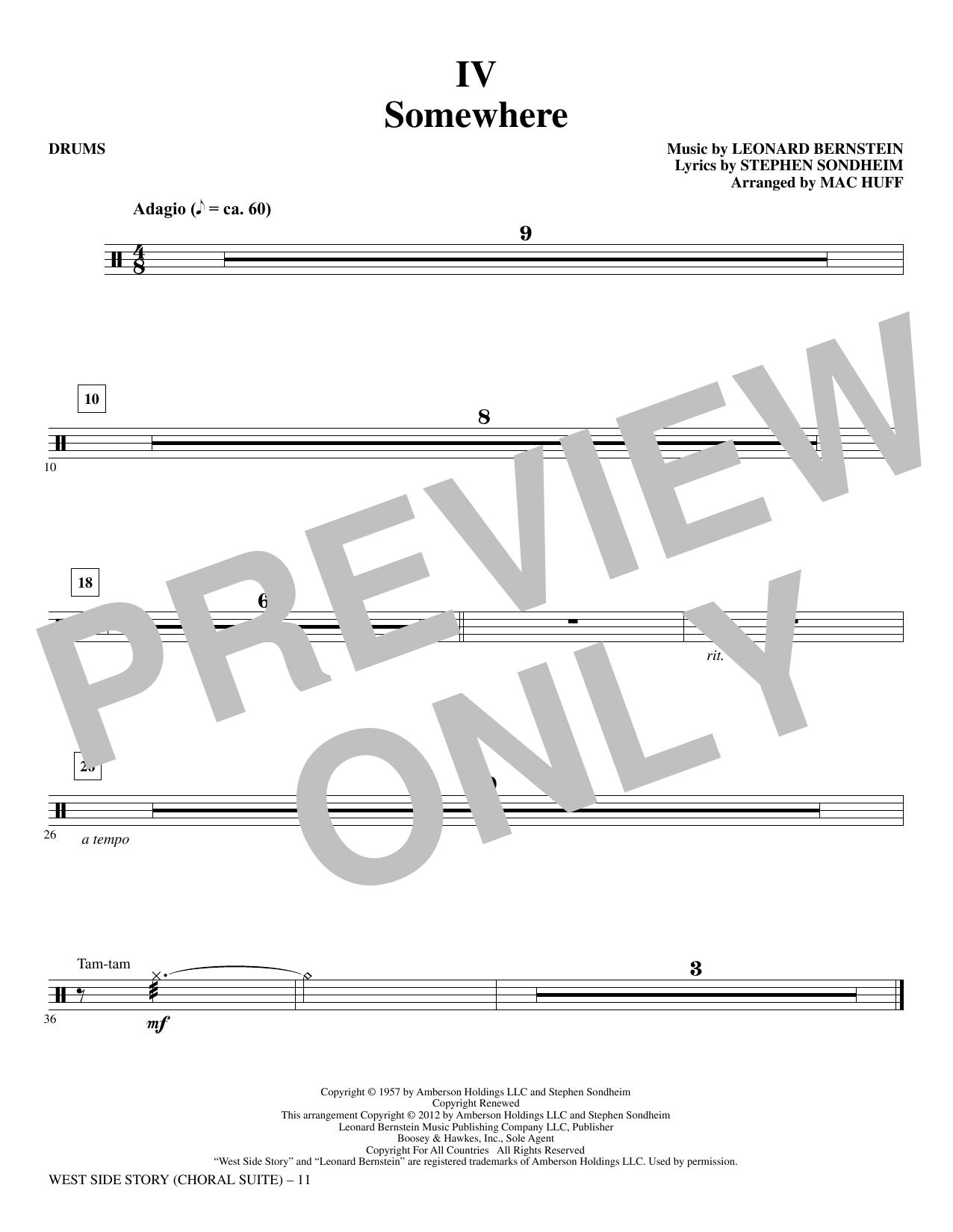 West Side Story - Drums (Choir Instrumental Pak)