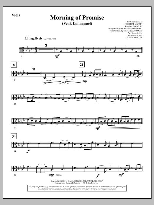 Morning of Promise - Viola (Choir Instrumental Pak)
