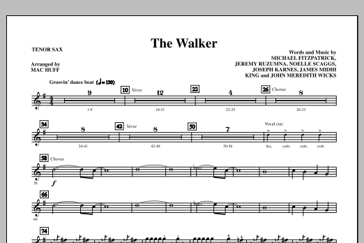 The Walker - Tenor Sax (Choir Instrumental Pak)