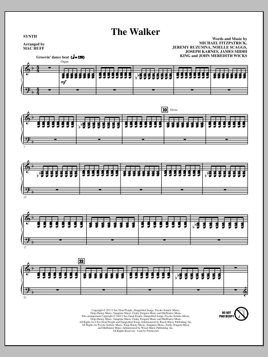 The Walker - Synthesizer (Choir Instrumental Pak)