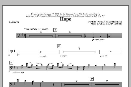 Hope - Bassoon Sheet Music