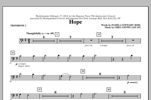 Hope - Trombone 1 Sheet Music