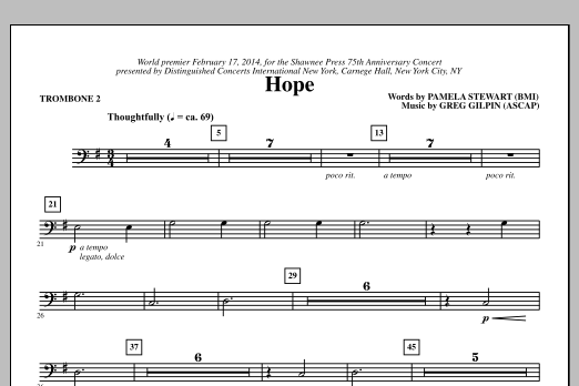 Hope - Trombone 2 Sheet Music