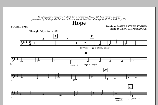 Hope - Double Bass Sheet Music