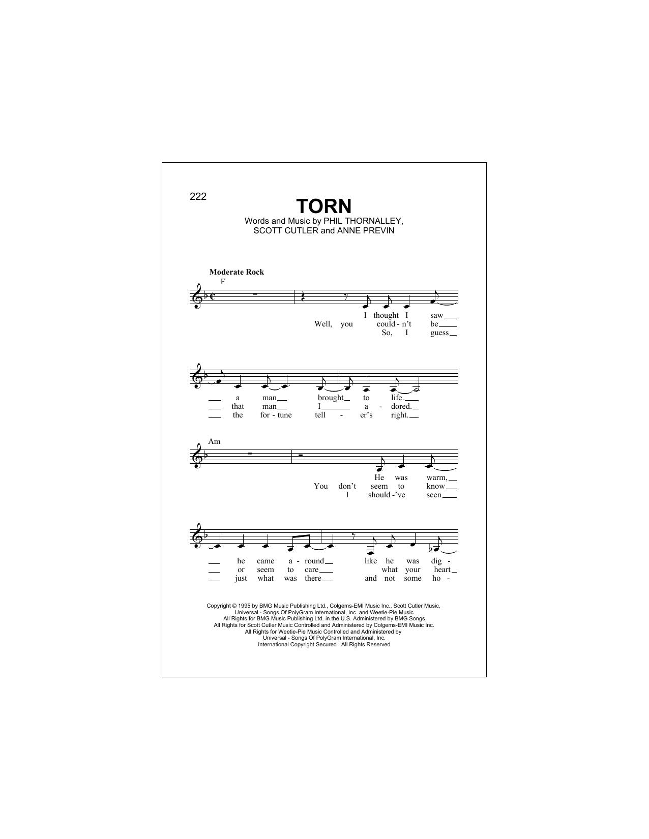 Torn Sheet Music