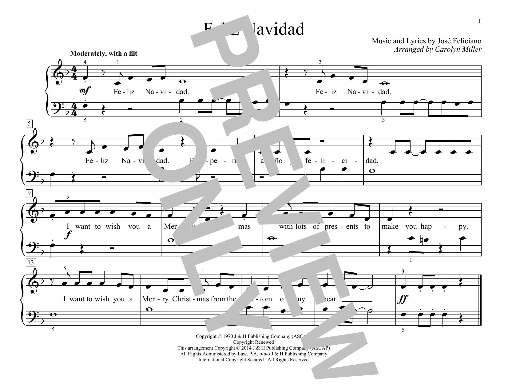 Feliz Navidad (Educational Piano)