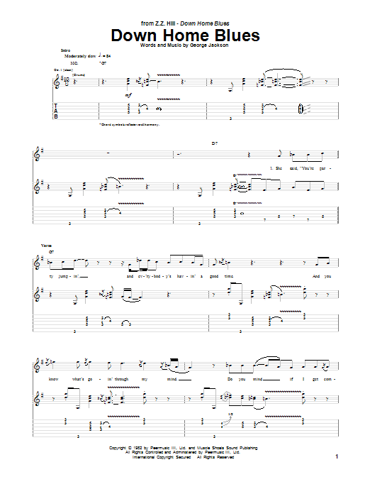Down Home Blues Sheet Music