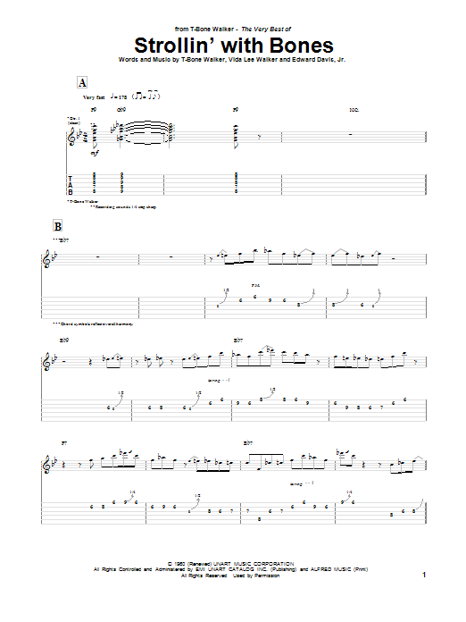 Strollin' With Bones Sheet Music