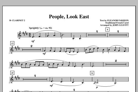 People, Look East - Bb Clarinet 2 (Choir Instrumental Pak)