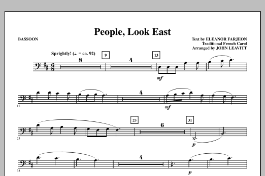 People, Look East - Bassoon Sheet Music