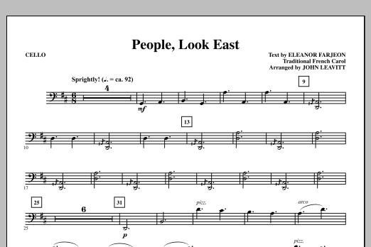 People, Look East - Cello (Choir Instrumental Pak)