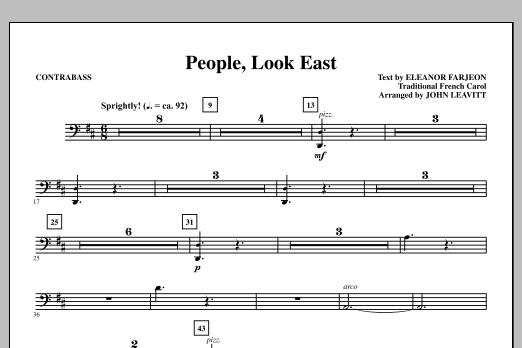 People, Look East - Contrabass Sheet Music