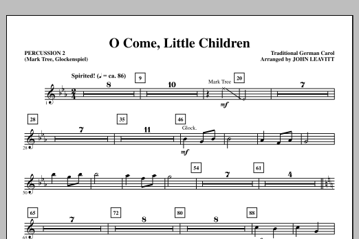 O Come, Little Children - Percussion 2 (Choir Instrumental Pak)