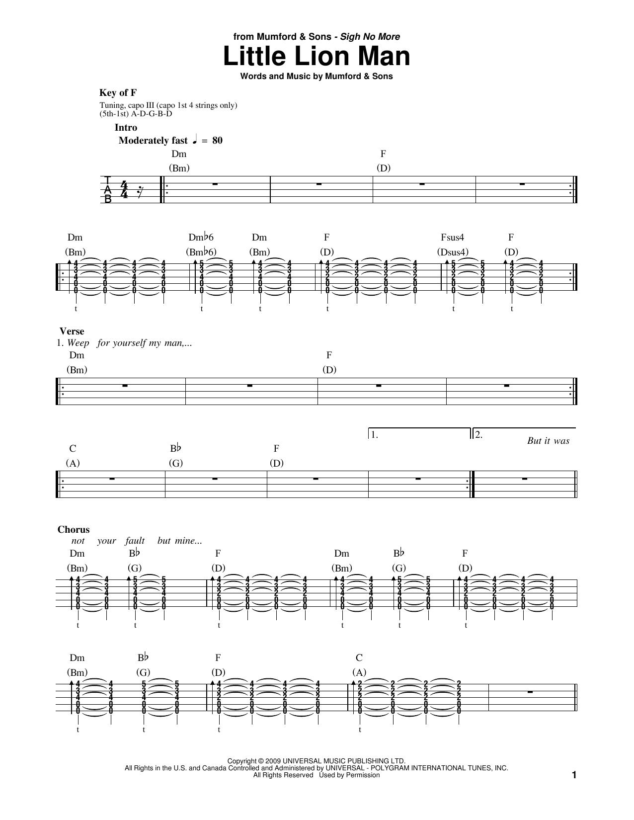 Little Lion Man Sheet Music