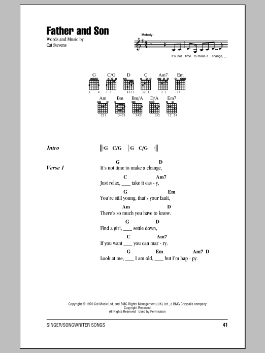 Father And Son Sheet Music