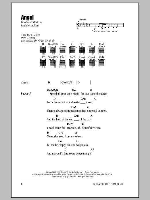 Angel Sheet Music
