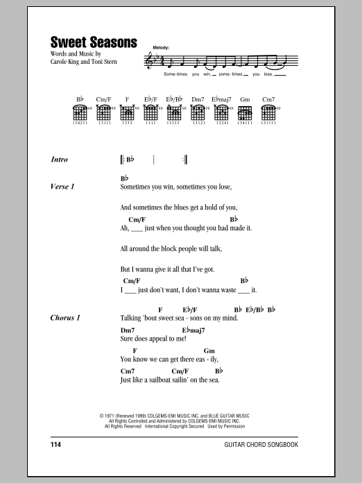 Sweet Seasons Sheet Music