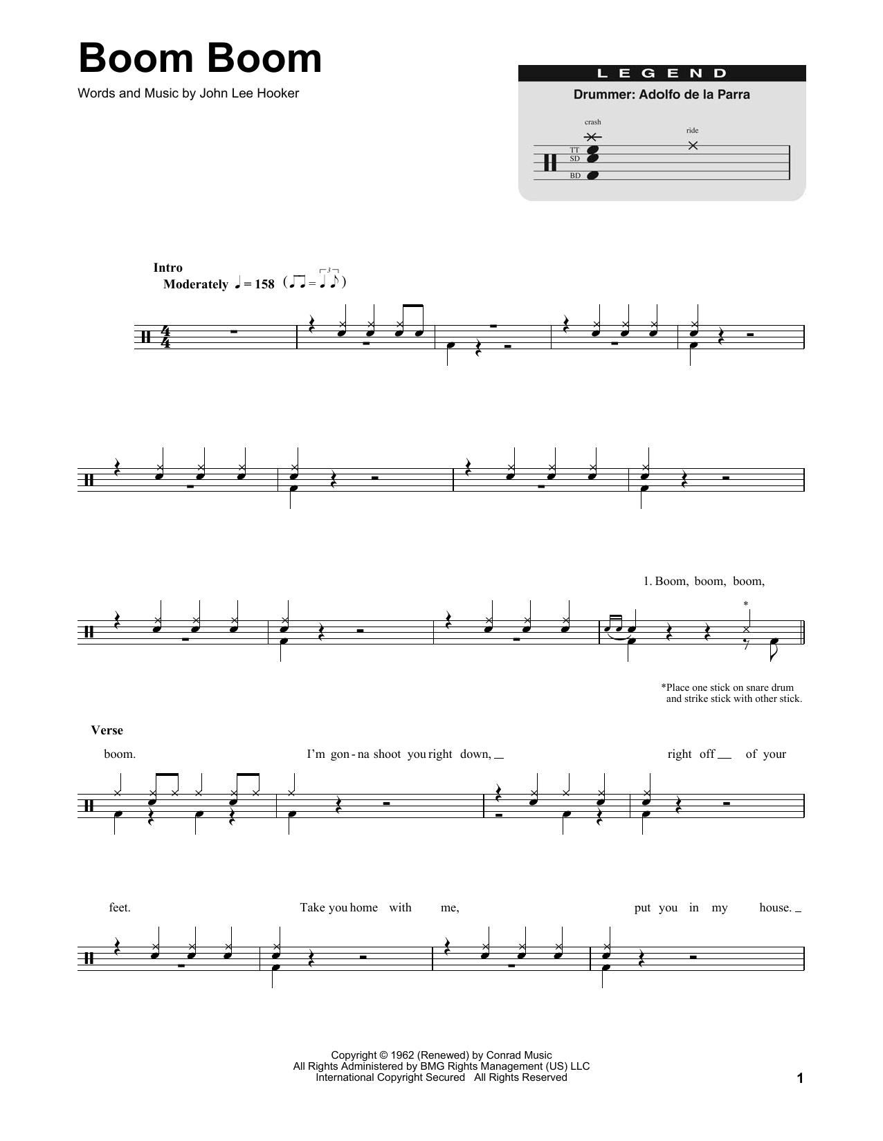Boom Boom (Drums Transcription)