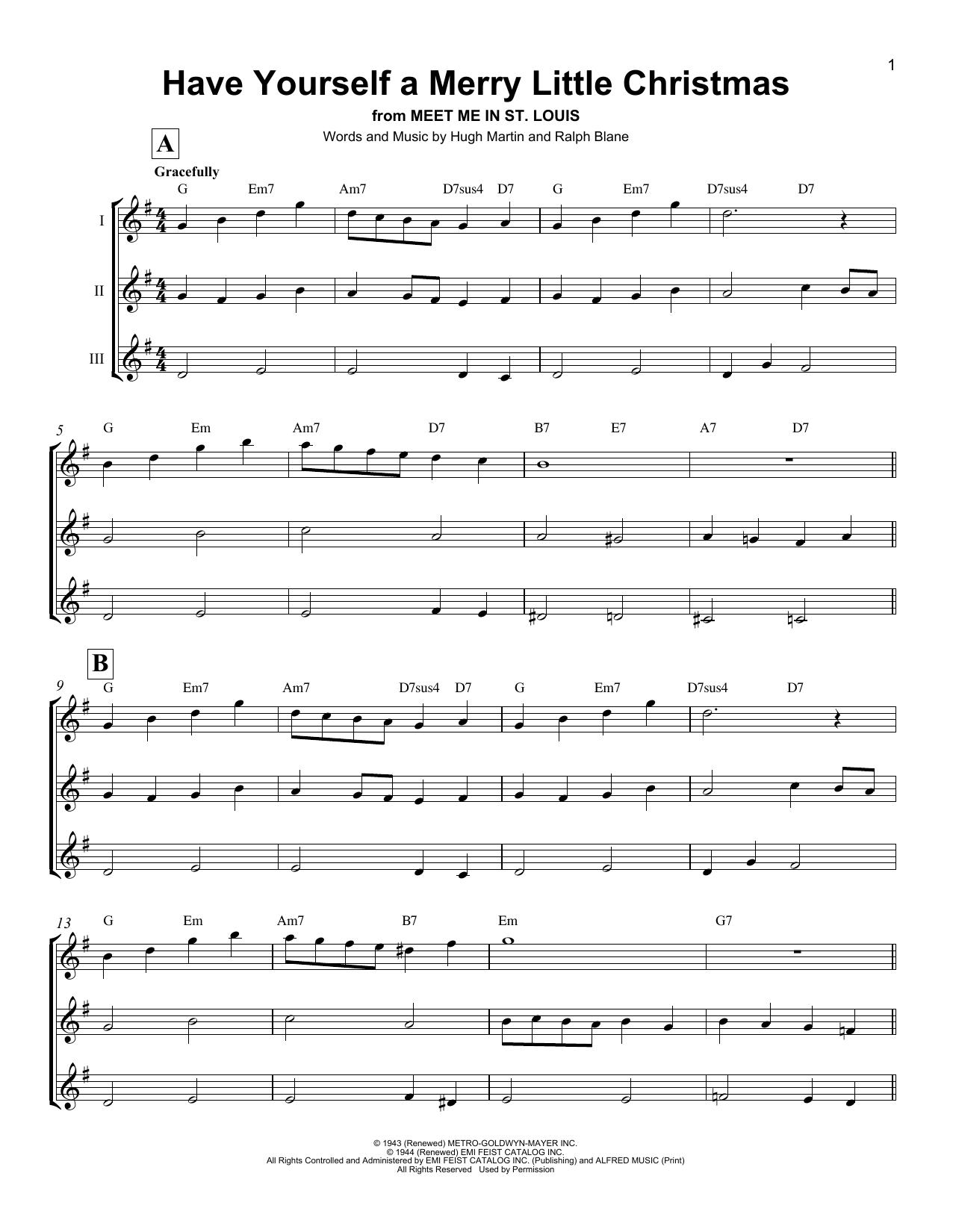 Have Yourself A Merry Little Christmas (Ukulele Ensemble)