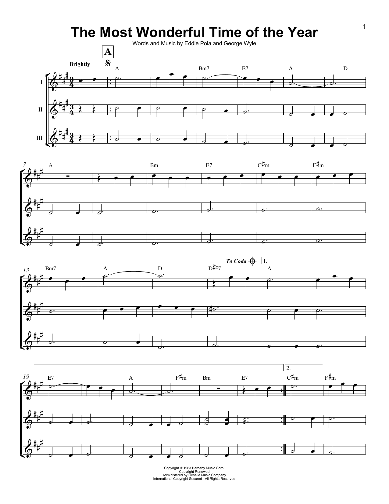 The Most Wonderful Time Of The Year Sheet Music