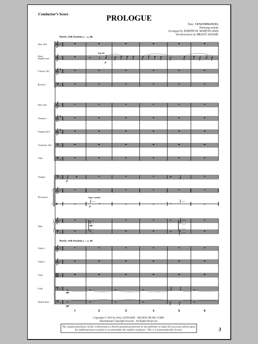 Canticles in Candlelight (COMPLETE) sheet music for orchestra/band by Joseph M. Martin. Score Image Preview.