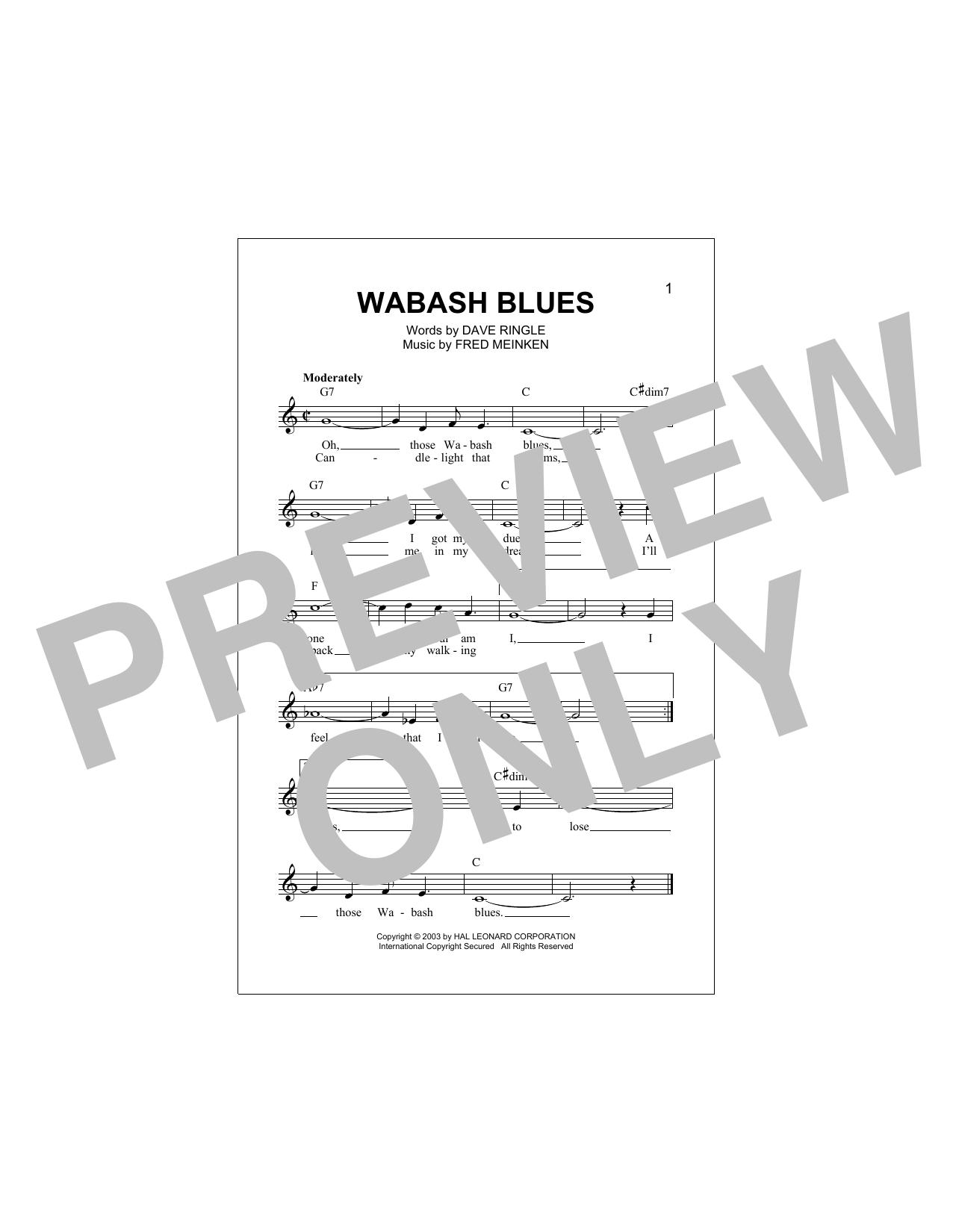 Wabash Blues Sheet Music