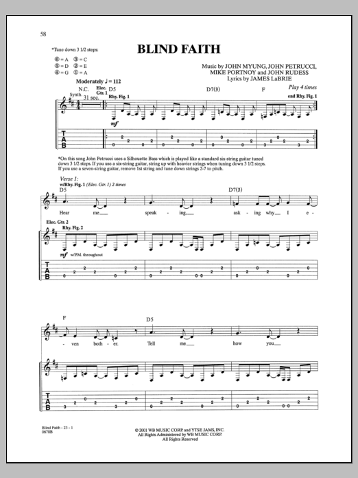 Blind Faith Sheet Music