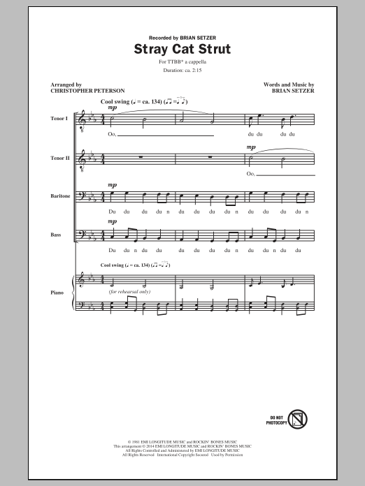 Stray Cat Strut (arr. Christopher Peterson) Sheet Music