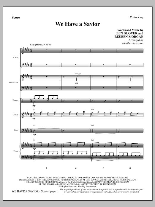 We Have a Savior - Full Score (Choir Instrumental Pak)