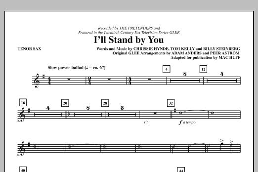 I'll Stand By You - Tenor Sax (Choir Instrumental Pak)