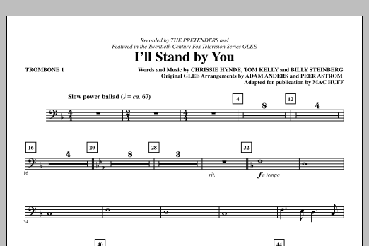 I'll Stand By You - Trombone 1 (Choir Instrumental Pak)