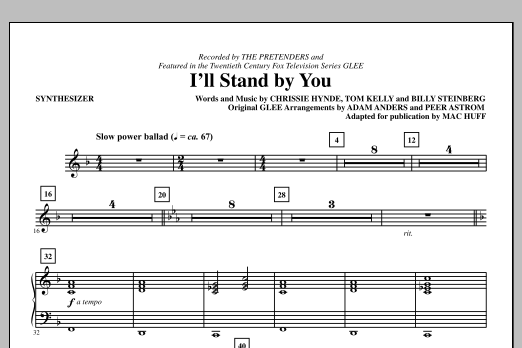 I'll Stand By You - Synthesizer (Choir Instrumental Pak)