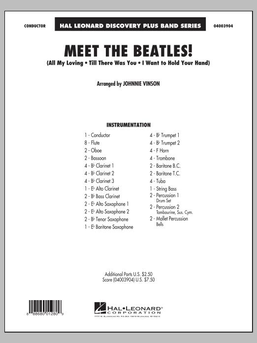 Meet the Beatles! - Conductor Score (Full Score) (Concert Band)