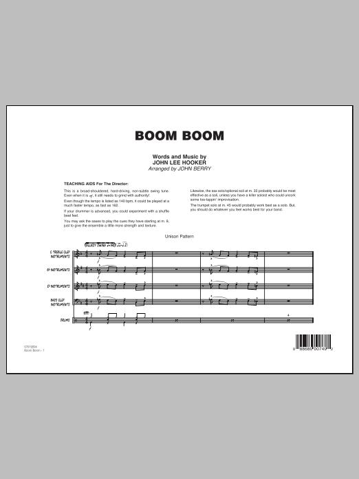 Boom Boom - Conductor Score (Full Score) (Jazz Ensemble)