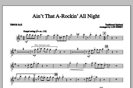 Ain't That A-rockin' All Night - Tenor Sax 1 Sheet Music