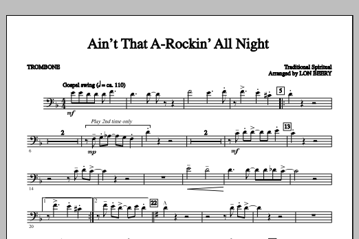 Ain't That A-Rockin' All Night (complete set of parts) sheet music for orchestra/band by Lon Beery and Miscellaneous. Score Image Preview.