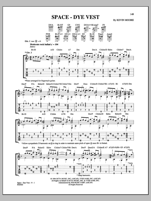 Space-Dye Vest Sheet Music