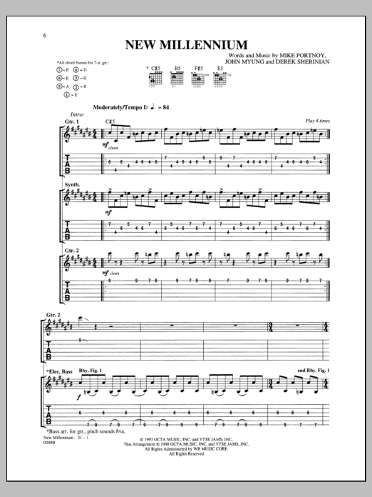 New Millennium Sheet Music