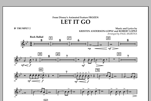 Let It Go (from Frozen) - Bb Trumpet 2 (Concert Band)