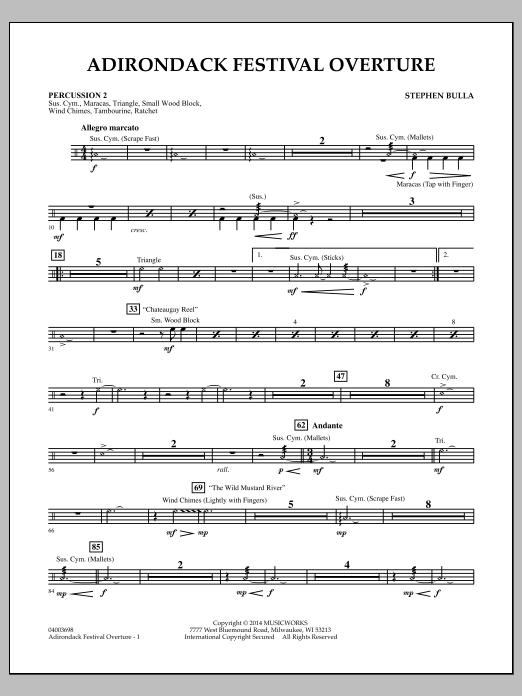 Adirondack Festival Overture - Percussion 2 (Concert Band)