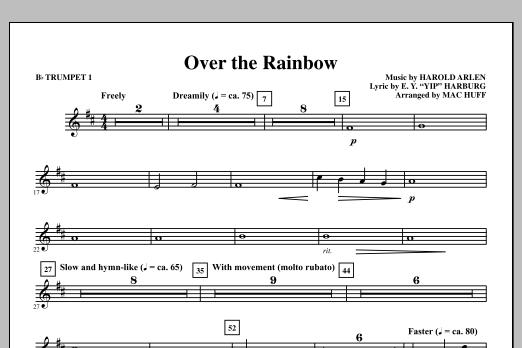 Over the Rainbow - Bb Trumpet 1 (Choir Instrumental Pak)