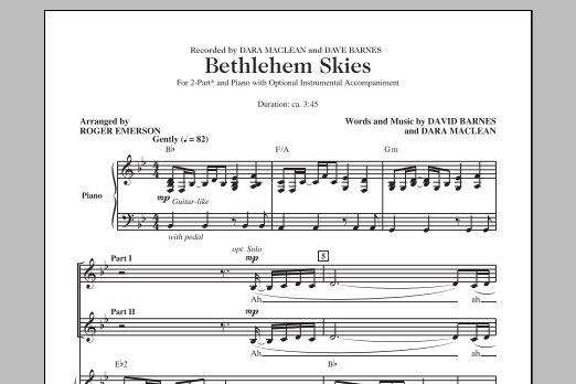 Bethlehem Skies (arr. Roger Emerson) Sheet Music