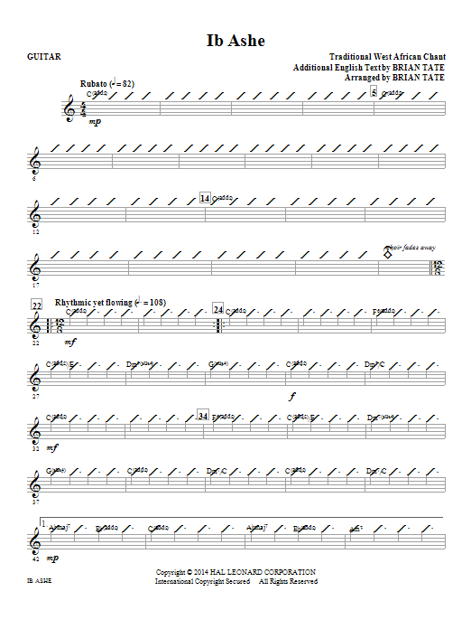 Ib Ashe (complete set of parts) sheet music for orchestra/band by Brian Tate. Score Image Preview.